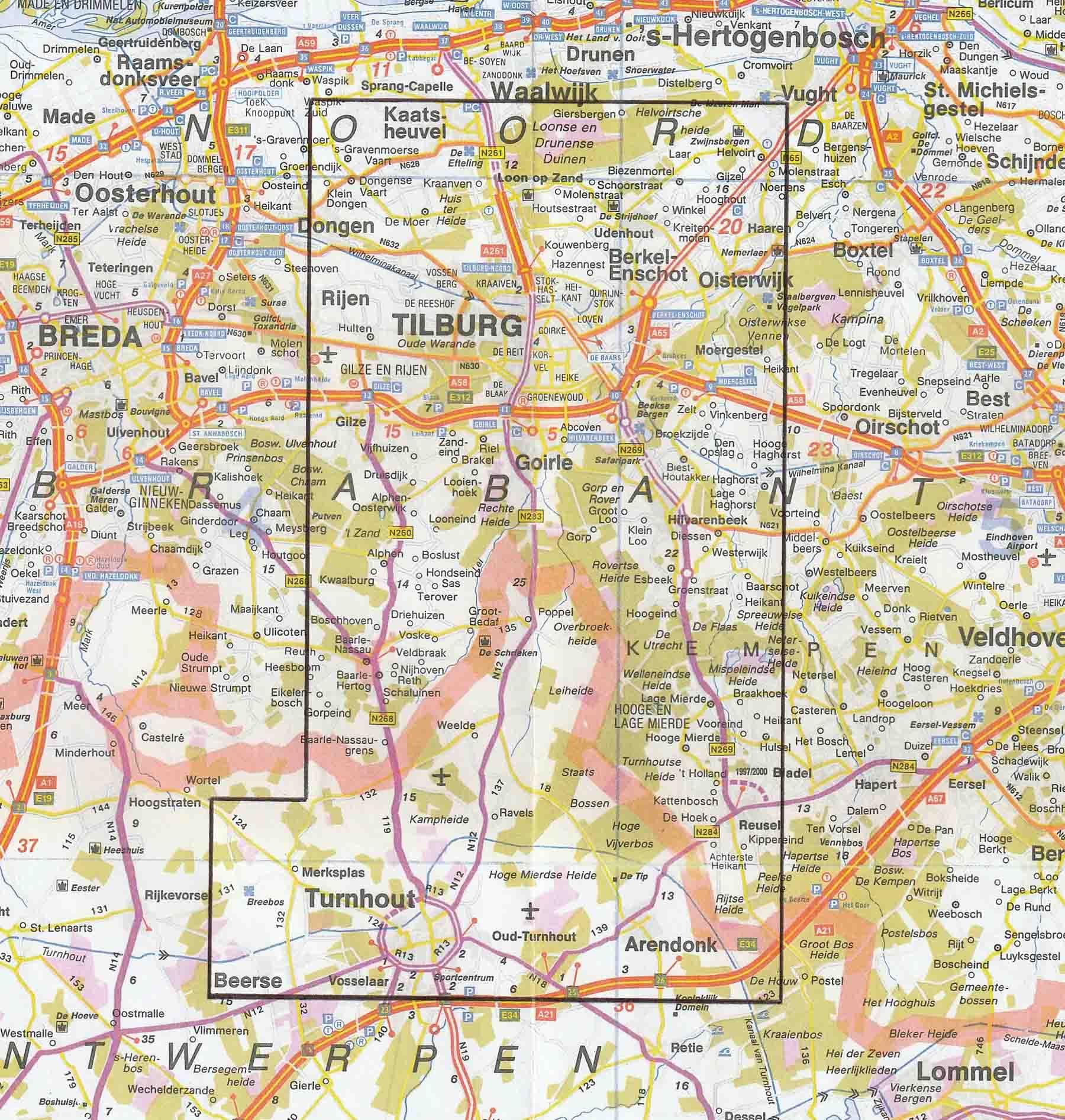 Kaart werkgebied SJDL