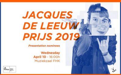 Jacques de Leeuw Toptalent Prijs